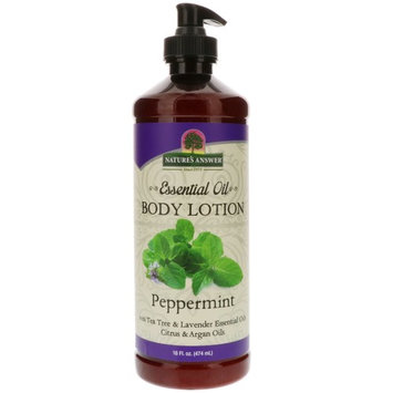 Nature's Answer, Essential Oil, Body Lotion, Peppermint , 16 fl oz (474 ml) [Scent : Peppermint]