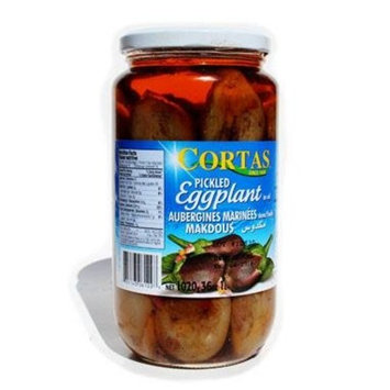 Cortas Pickled Eggplant in Oil - Makdous - 36oz
