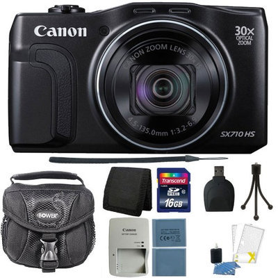 Canon PowerShot SX710 HS 20.3 MP Digital Camera Black + Deluxe Accessory Kit