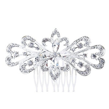 WINOMO Beautiful Jewelry Crystal Folwer Hair Combs Accessories Crystal Hair Clips Beauty Tools