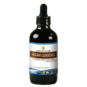 Nevada Pharm Asian Ginseng Tincture Alcohol-FREE Extract, Wildcrafted Korean Red Ginseng (Asian Ginseng, Panax Ginseng) Dried Root 4 oz