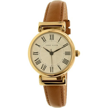 Anne Klein Women's AK-2246CRHY Gold Leather Analog Quartz Dress Watch