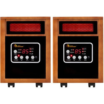 Dr. Heater Usa Dr. Infrared Heater DR-968-2 Portable Space Heater, 2-Pack, 1500W