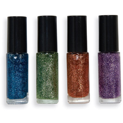 Women's Glitter Nail Polish Assorted Colors Costume Accessory Make-Up