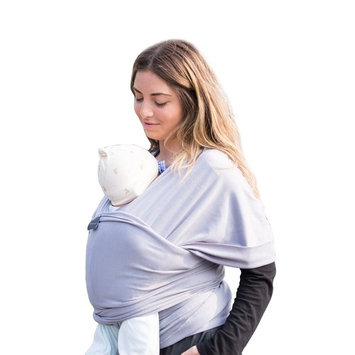 Baby Wrap Baby Carrier Baby Sling Wrap Carrier for Newborns, Infants, Toddlers, 4-in-1: Soft Carrier - Baby Sling - Postpartum Belt - Nursing Breastfeeding Cover | Great Baby Shower Gift (Light Grey