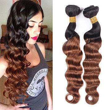 8A Blonde Peruvian Hair Bundles Ombre Peruvian Loose Deep Wave 3 Bundles 12 14 16Inch Ombre Loose Deep Wave Peruvian Hair Blonde Human Hair Bundles Total 300g(12
