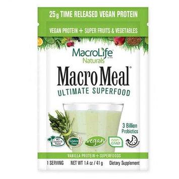 MacroLife Naturals 231907 Vegan Vanilla Macromeal Supplement