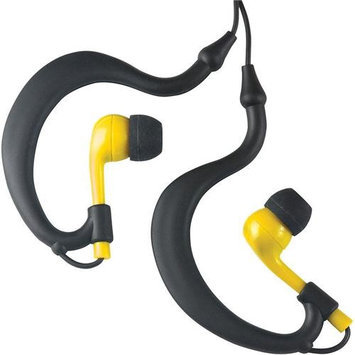 Fitness Technologies UWater Triple Axis Action Stereo Earphones, 100% Waterproof, Black/Yellow