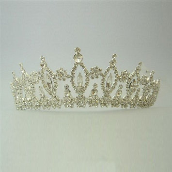 Girls Silver Crystal Rhinestone Queen Special Occasion Headpiece
