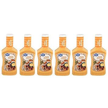 Great Value Tangy Honey Mustard Dressing & Dip, 16 fl oz, Pack of 6