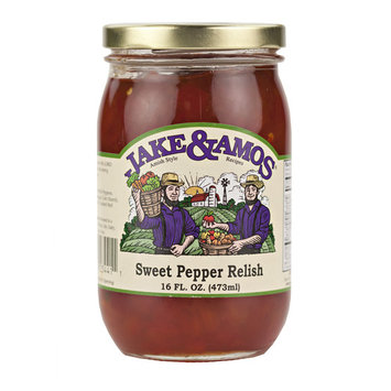 Jake & Amos Sweet Pepper Relish 16 oz. Jar (3 Jars)
