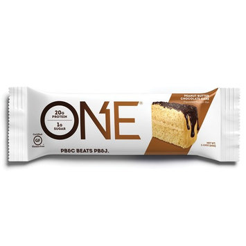 ONE Protein Bar, Peanut Butter Chocolate Cake, 2.12 oz., Gluten-Free Protein Bar with High Protein (20g) and Low Sugar (1g), Guilt Free Snacking for Healthy Diets