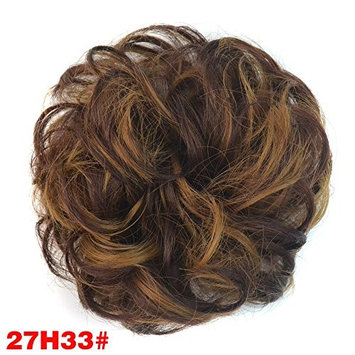 Synthetic Hair Scrunchies Hair Extensions Chignons Piece Wrap Ponytail Hair Tail Updo Fake Hair Bun Hairpiece Accessories