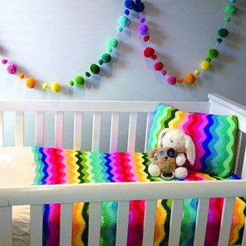Rainbow Pom Pom Garland 56 Cashmere pom poms in 14 colours