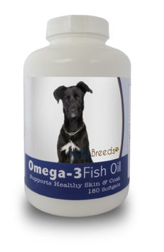 Healthy Breeds 840235141723 Mutt Omega-3 Fish Oil Softgels 180 Count