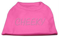 Mirage Pet Products 5218 XXLBPK Cheeky Rhinestone Shirt Bright Pink XXL 18