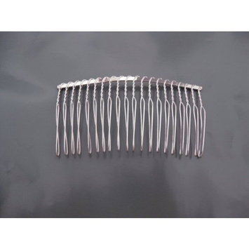 1 Comb04 Wire Silver Hair Comb Bridal/veil/crafts 3in by Velvet Bridal