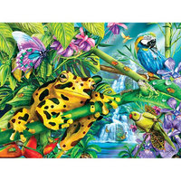White Mountain Puzzles Rainforest Friends 100 Piece Puzzle