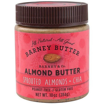 Barney Butter Sprouted Almonds & Chia Almond Butter, 10 oz, (Pack of 3)