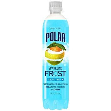 Polar Frost Arctic Twist Sparkling Water 17 oz Plastic Bottles - Pack of 24 [Arctic Twist]
