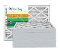 AFB Gold MERV 11 11.25x19.25x2 Pleated AC Furnace Air Filter. Filters. 100% produced in the USA. (Pack of 6)