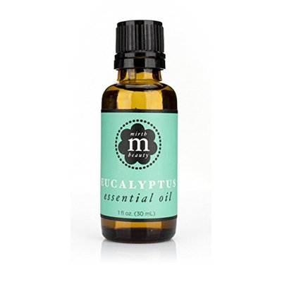 Mirth Beauty Eucalyptus Essential Oil for bath, feet, relaxing rub, home fragrance and reed diffuser bottle. Large 1oz (30ml) dropper bottle.