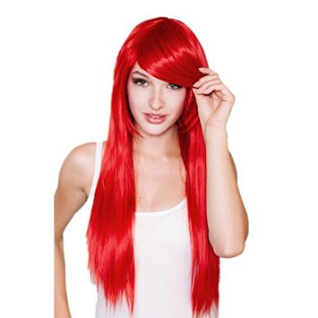 Tsnomore Long Straight Party Heat-resist Cosplay Wig (Red)