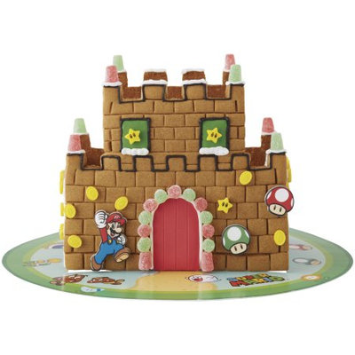 Wilton Nintendo Mario Bros. Gingerbread Castle Kit