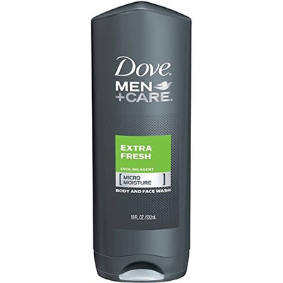 Dove Men + Care Body & Face Wash, Extra Fresh 18 oz (7 Pack)