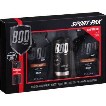 Parfums De Coeur Ltd Bod Man Sport Pak, Black, 3 pc