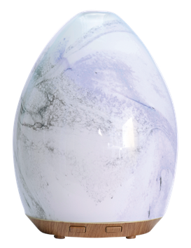 Ultrasonic Glass Swirl USB Essential Oil Diffuser Now Foods 1 Unit Diffuser