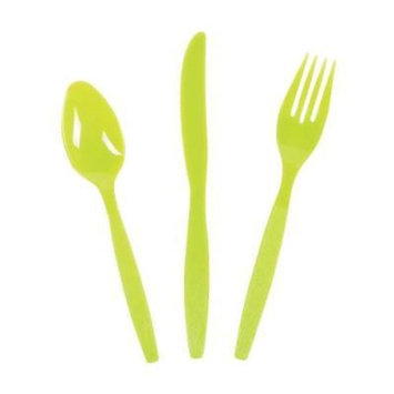 IN-13689521 Lime Green High Count Cutlery Sets 210 Piece(s)