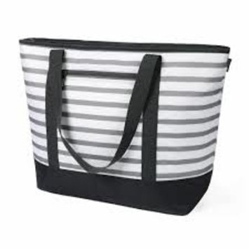 California Innovations 12 gallon Insulated Tote Gray and White Stripes