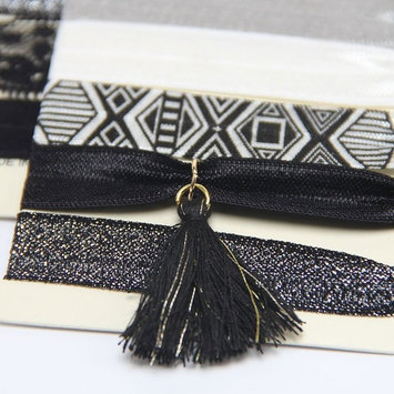 No Crease Elastic Hair Styling Accessories Pony Tail Holder Ribbon Bands,Black Lace