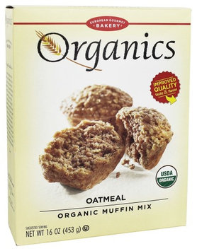 European Gourmet Bakery - Organic Muffin Mix Oatmeal - 16 oz(pack of 3)
