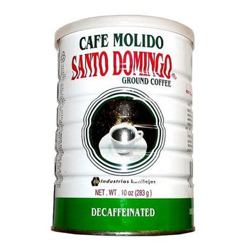Decaffeinated Coffee Santo Domingo Decaf 2 Vacuum Packed Cans 10 oz.