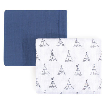 Yoga Sprout Baby Boy and Girl Muslin Swaddle Blanket, 2-Pack, Teepee