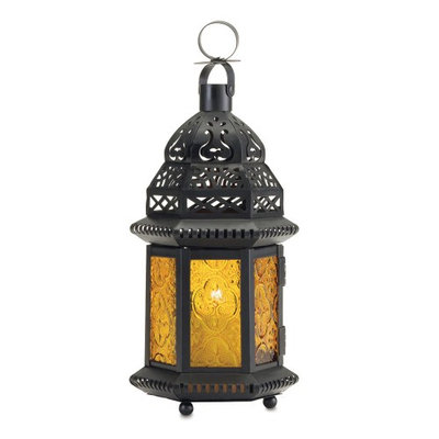 Gallery Of Light Moroccan Lantern Table, Yellow Glass Moroccan Decorative Lanterns For Candles