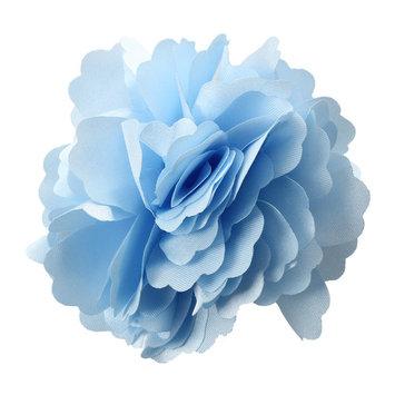THZY Women Girls Satin Peony Flower Hair Clip Brooch - Light Blue