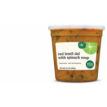 Whole Foods Market, Red Lentil Dal with Spinach Soup, 24 oz
