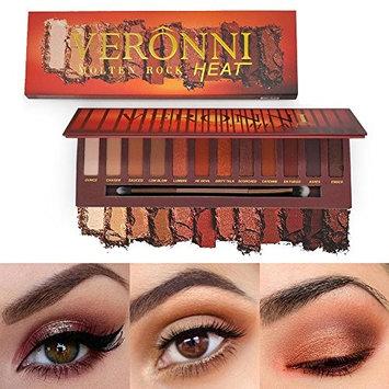 Jinjin 12 Colors Shimmer Matte Eyeshadow Eye Shadow Palette Cosmetic Brush Set