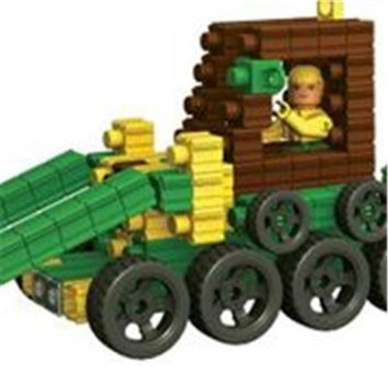 SNAPO 16A278GN 277 Piece Work Zone Building Blocks Green & Yellow - Brown