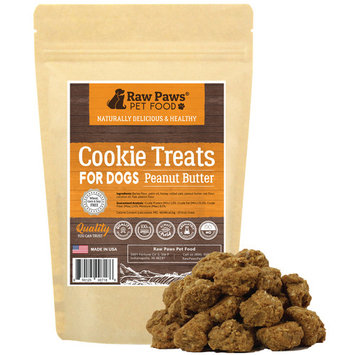 Eager Paws All-Natural Peanut Butter Dog Cookies, 5-ounce - Made in USA Only - Wheat Free Treats for Dogs - No Corn or Soy Free - Perfect Snacks for Puppies & Training
