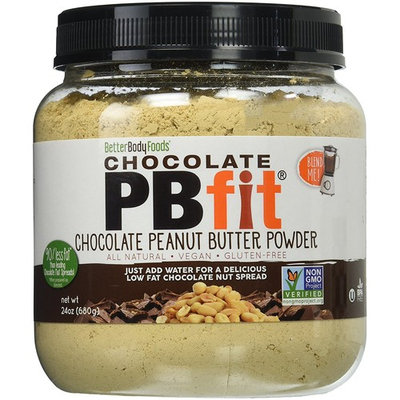 PBfit All Natural Chocolate Peanut Butter Powder, 24 Ounce [Chocolate]