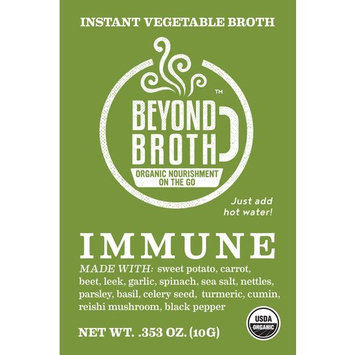 Beyond Broth - Immune Broth Packets - Instant Vegan Boneless Broth for Immune Support - USDA Organic Herbal Sipping Broth - (3 Packets)