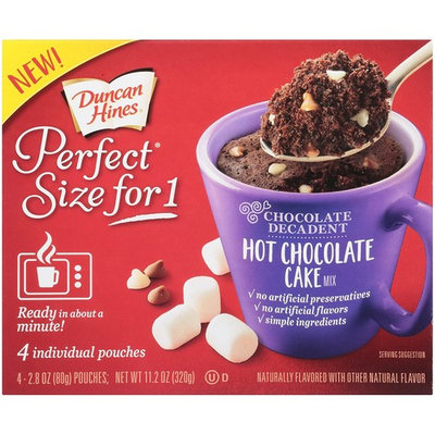 Duncan Hines Perfect Size for 1 Chocolate Decadent, Hot Chocolate Cake, 11.2 Ounce [Hot Chocolate Cake]