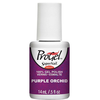 Supernail Progel Nail Lacquer, Purple Orchid, 0.5 Fluid Ounce