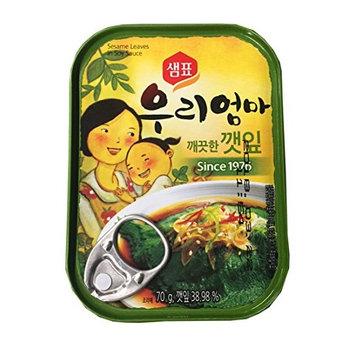 Sempio Marinated Sesame Leaves 70 gram per Pack (Soy Sauce, 2 Pack)