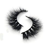 Lunamoon 3D Mink Fur Fake Eyelashes 100% Siberian Mink Fur Hand-made False Eyelashes Natural Look for Women's Makeup 1 Pair Package