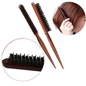 1 Pack Comb Hairbrush Professional Salon Teasing Hair Brushes Slim Line Hairdressing Styling Tools Combo Pocket Long Round Handle Holder Pretty Popular Beard Brush Natural Grooming Women Travel Kit